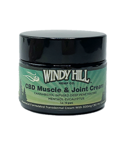 Windy Hill Hemp CBD Transdermal Muscle & Joint Cream 300mg