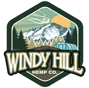 Windy Hill Hemp Hexagon Logo