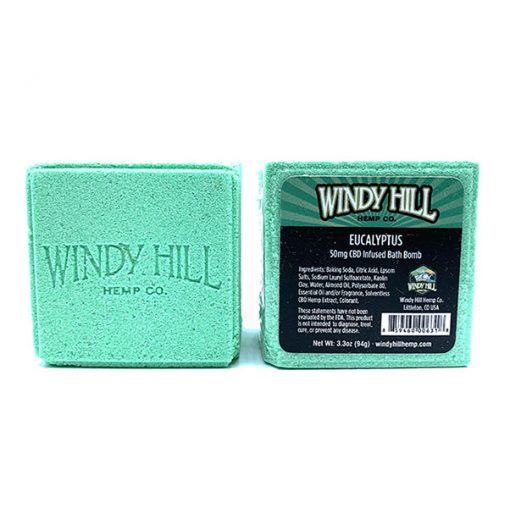 Windy Hill Hemp CBD Bath Bomb Eucalyptus