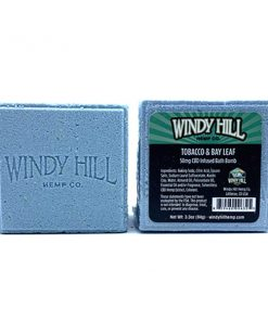 Windy Hill Hemp CBD Bath Bomb Tobacco & Bay Leaf